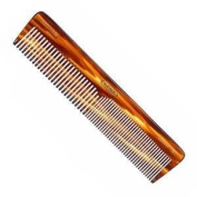 Kent The Handmade Comb - 188 mm Extra Large Coarse and Fine Toothed Comb Sawcut 16T by Kent
