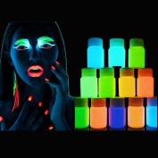 Easy Lifestyle 12 Pcs Amazing Fluorescence Luminous Glow In The Dark Skin Body Painting