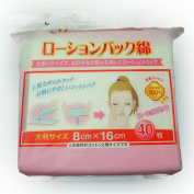 Lotion Pack Cotton Natural Cotton 40 Sheets 80 X 160 mm