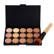 Chinatera Professional 2# 15 Colour Camouflage Concealer Palette + 1PCS Face Foundation Makeup Angled Brush