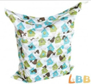 LBB(TM) Solid Baby Wet and Dry Cloth Nappy Bag,House Printed