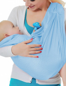 Vlokup Adjustable Baby Water Ring Sling Baby Carrier Infant Wrap One Size Skyblue