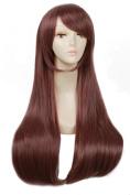 L-email 75cm/29.52inch Long Straight Cosplay Wig Auburn Ml192