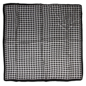 ETSYG® 80cm Elegant Womens Square Scarf Silk Black White Kerchief Shawl Wrap Fashion Gifts