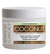 Advanced Clinicals Moisturising Coconut Cream. Great Use As Body Lotion or Facial Moisturiser! Travel Size 60ml ...