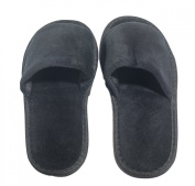 6 One Size Coloured Open Toed Terry Velour SPA Slippers