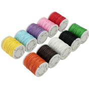 10x Mixed Colours colourful Waxed Cotton Cord Strings For Macrame Jewellery Beads bracelet necklace anklet chain DIY Making
