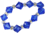 Beads, Blue Faceted Bicone Bead 8mm - 10pcs