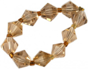 Beads, Topaz Faceted Bicone Bead 8mm - 10pcs