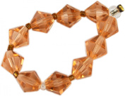 Beads, Antique Rose Faceted Bicone Bead 8mm - 10pcs