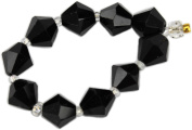 Beads, Black Faceted Bicone Bead 8mm - 10pcs