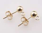 14k Gold Filled 4mm Ball Post Earrings 4sets/2pairs
