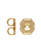 14k Gold Filled Heavy 5.8mm Post Earring Back Clutches 8pcs