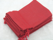 25pcs 12.5x17.0cm Red Hemp/Hessian Bags, Jewellery Pouches, Wedding Favours, Jewellery Packing, Gift Bags