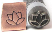 Lotus Graphic Deign Stamp Professional Grade of Stainless 8 X 7mm