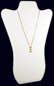 White Leather Pendant Necklace Jewellery Display 36cm