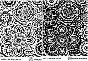 Art Clay World USA Low Relief Texture Jill Mckay Mendala Design - 1 Pc.