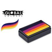 Global Body Art Fun Stroke Rainbow Split Cake - Hobart