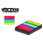 Global Body Art Large Rainbow Split Cake - Positano