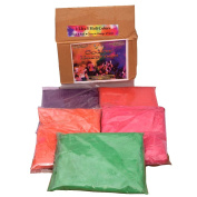 Colormarathon® Premium Quality Holi Colour Powder - 5 Colours X 0.5kg Each, Total 0.5kg