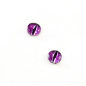 6mm Pair of Purple Dragon Glass Eyes Crafting Supply Flatback Cabochons for Doll or Jewellery Making Set of 2