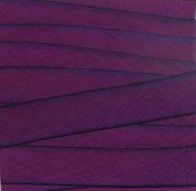 """5/8"""" (15mm) Double Faced Satin Hand dyed silk ribbon woven edge spools - Colour 020 Purple"""
