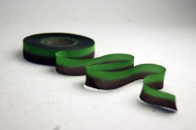 "5/8"" (15mm) Double Faced Satin Hand dyed silk ribbon woven edge spools - Colour 010 Green Brown"