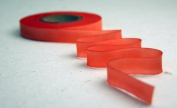 """5/8"""" (15mm) Double Faced Satin Hand dyed silk ribbon woven edge spools - Colour 027 Orange Pink"""