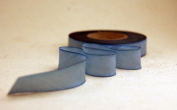 """5/8"""" (15mm) Double Faced Satin Hand dyed silk ribbon woven edge spools - Colour 085 Blue"""