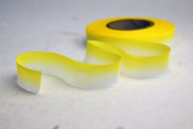 "5/8"" (15mm) Double Faced Satin Hand dyed silk ribbon woven edge spools - Colour 061 Yellow"