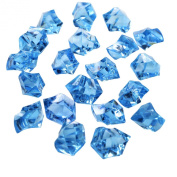 Landisun Translucent Fake Artificial Acrylic Ice Crystal Rocks for Vase Fillers Table Scatters
