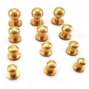 20PCS Sam brown browne screw studs - solid Brass 10 mm