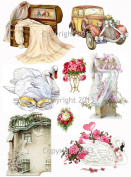 Vintage Victorian Wedding Collage Sheet 103 Art Images for Decoupage, Scrapbooking, Jewellery Making