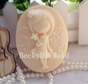 Creativemoldstore 1pcs Pretty Girl(ZX25) Craft Art Silicone Soap Mould Craft Moulds DIY Handmade Soap Mould