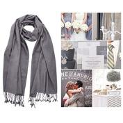 Light Grey Pashmina Scarf Shawl / Bridesmaid Shawl / Wedding Favour / Spring Summer Winter Fall Wedding