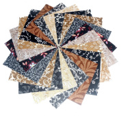 40 13cm Pretty Neutals Black and Browns Charm Pack