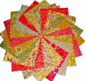 40 13cm Bahama Breezes/Yellows and Oranges/Charm Pack