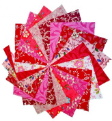 40 13cm Pretty Pinks and Reds Charm Pack