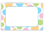 50 pack Pastel Dots- No SentimentEnclosure Cards