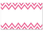 50 pack Pink Chevron- No SentimentEnclosure Cards