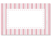 50 pack Pink Ticking BorderNo Sentiment Enclosure Cards