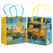 "Despicable Me Minions ""Le Buddies"" Premium Quality Party Favour Goodie Small Gift Bags 12"