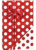 Reversible RED & WHITE POLKA DOTS Christmas Gift Wrap Wrapping Paper - 4.9m Roll