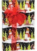 Snowmen Snowman Christmas Holiday Gift Wrap Paper - 4.9m Roll