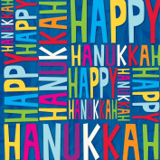 Happy Hanukkah Wrapping Paper Roll 60cm X 4.6m