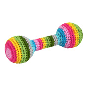 Frontier Natural Products 228963 Green Sprouts Toys Organic Crocheted Chime Rattle - Multicolor 3Mp Plus