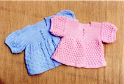 Oat Couture Knitting Pattern BB209 - Simple Sacques for Baby