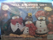All Stuffed Up Felt Folks Kit 61103 Penguin Family
