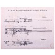 Browning Patent Aircraft 30 Cal Machine Gun Canvas Print 14x11