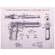 Browning Patent Handgun Canvas Print 14x11